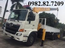 XE TẢI HINO  FL8JT7A 15 TẤN-gắn cẩu Soosan SCS746 7 tấn