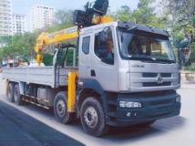 Xe tải Chenglong Hải Âu 4 chân gắn cẩu Soosan 10 tấn