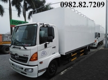 Xe tải Hino FC chở bồn thùng dài 72m