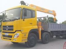 Xe tải dongfeng 4 chân gắn cẩu Soosan 7 tấn