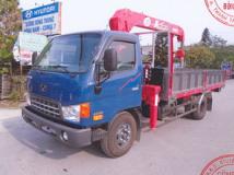 Xe tải Hyundai 7 tấn gắn cẩu Unic 3 tấn 4 đốt
