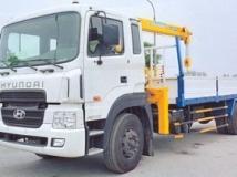 Xe tải hyundai HD170 9 tấn gắn cẩu Soosan 5 tấn