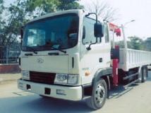 Xe tải Hyundai HD210 gắn cẩu Unic 3 tấn 4 đốt
