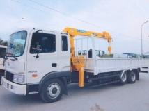 Xe tải Hyundai HD210 gắn cẩu Soosan 3 tấn 4 đốt