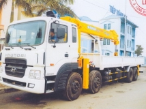 Xe tải hyundai HD320 gắn cẩu soosan 10 tấn