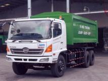Xe tải Hino 3 chân FM chở Rác