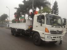 Xe tải Hino FL 3 chân gắn cẩu gấp FALFINGER