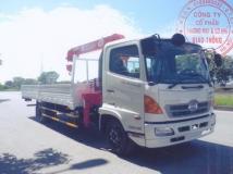 Xe tải Hino FC9JL gắn cẩu unic 3 tấn 4 đốt