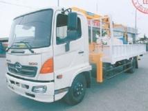 Xe tải Hino FC gắn cẩu Soosan 3 tấn có rỏ.