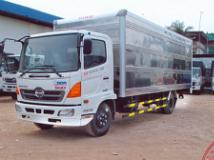 Xe tải Hino Fc thùng kín 2 cửa nghách