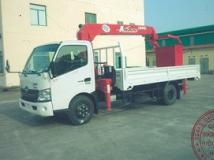 Xe tải Hino XZU720 gắn cẩu Unic 3 tấn có rỏ nâng