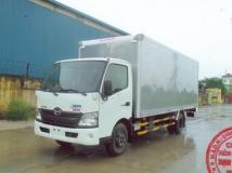 Xe tải Hino XZU730 thùng kín mở 4 cánh bên.