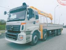 Xe tải Thaco Auman C34 5 chân gắn cẩu Soosan 10 tấn