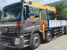 Xe tải Thaco Auman C34 5 chân gắn cẩu Soosan 7 tấn