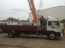 Xe tải thaco auman C160 gắn cẩu Gấp FALFINGER 5 tấn
