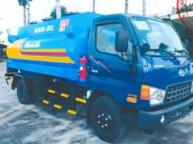Xe téc chở xăng dầu Hyundai 7 khối