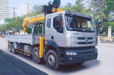 Xe tải chenglong gắn cẩu soosan 10 tấn