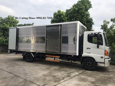 xe tải hino thùng kín Inox