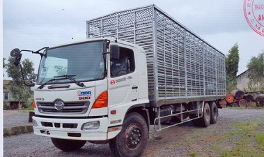 xe tải hino 15 tấn thùng chở gia cầm