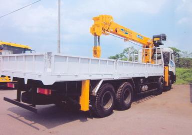 xe tải trường giang gắn cẩu 10 tấn