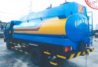 xe téc chở xăng hyundai 7 khối