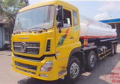 xe téc chở xăng dầu dongfeng 22 khối